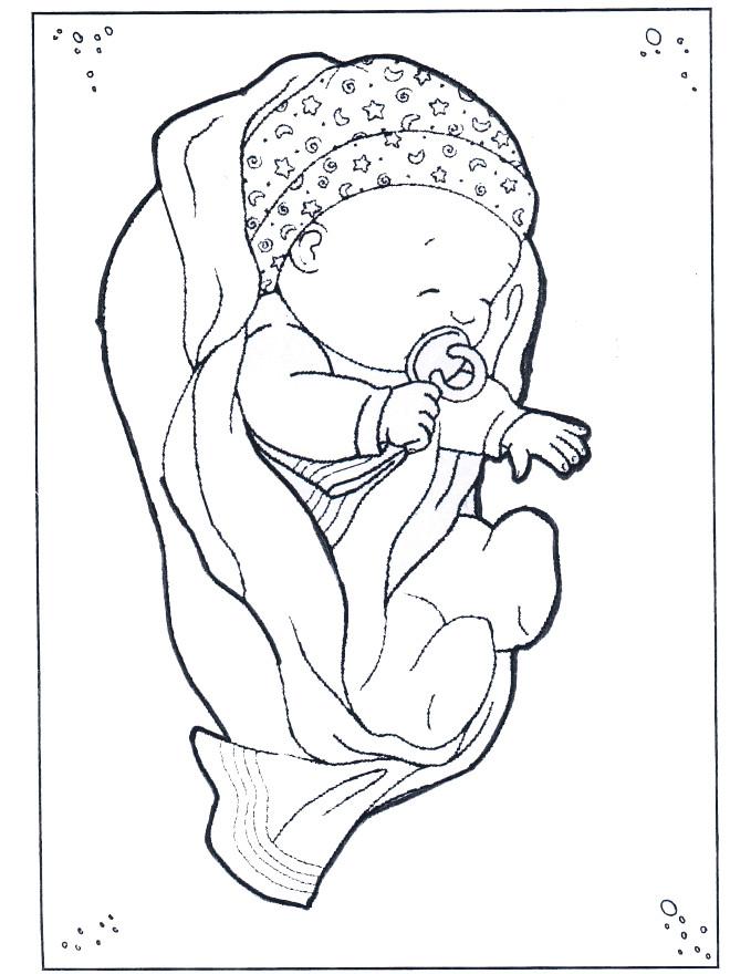 Coloriage Bébé Qui Dort Dessin Gratuit à Imprimer