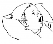 Coloriage Bébé veut dormir