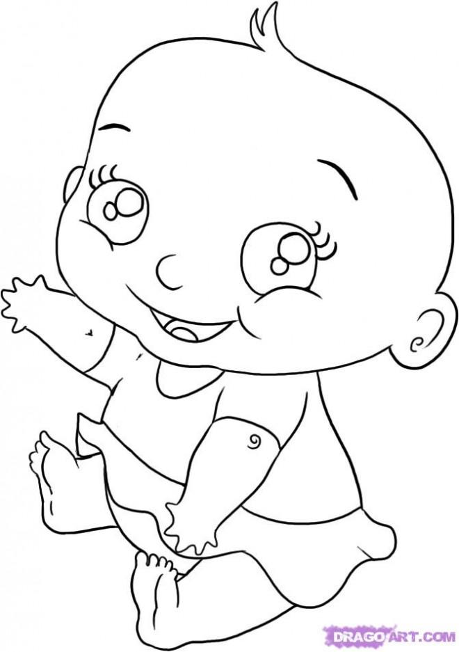 Coloriage et dessins gratuits Un beau bébé à imprimer