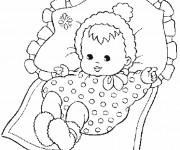 Coloriage et dessins gratuit Un bébé à imprimer