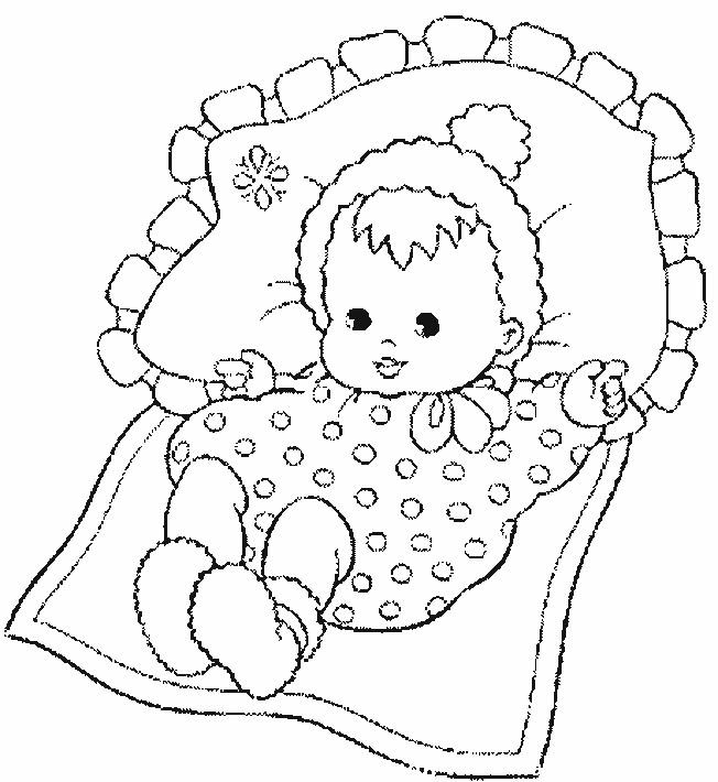 Coloriage et dessins gratuits Un bébé à imprimer
