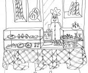 Coloriage et dessins gratuit A La Boulangerie à imprimer