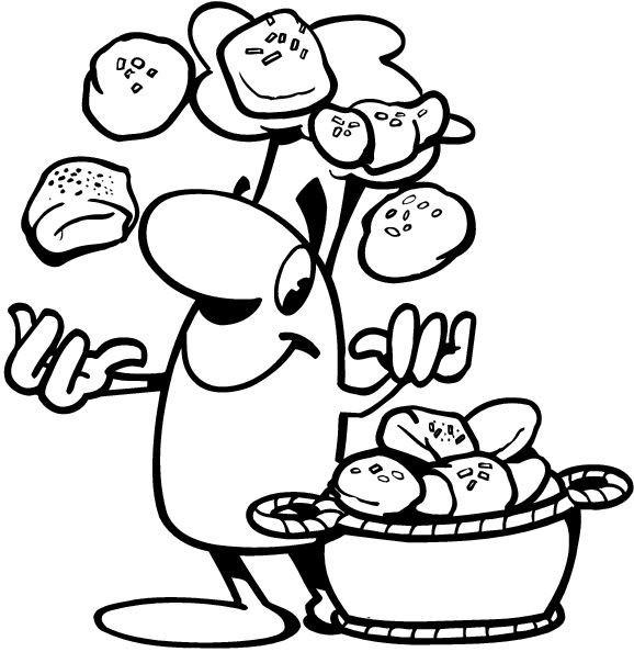 Coloriage et dessins gratuits Big Nose joue aux croissants à imprimer