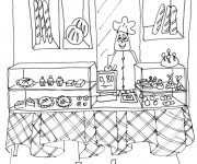 Coloriage dessin  Boulanger 5