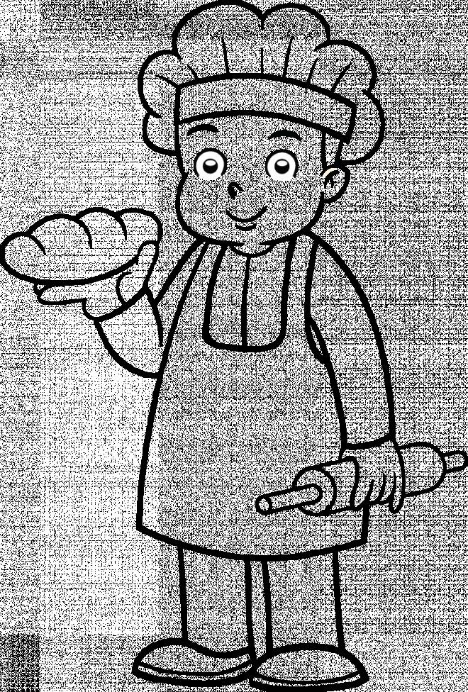 Coloriage et dessins gratuits Boulanger enfant à imprimer