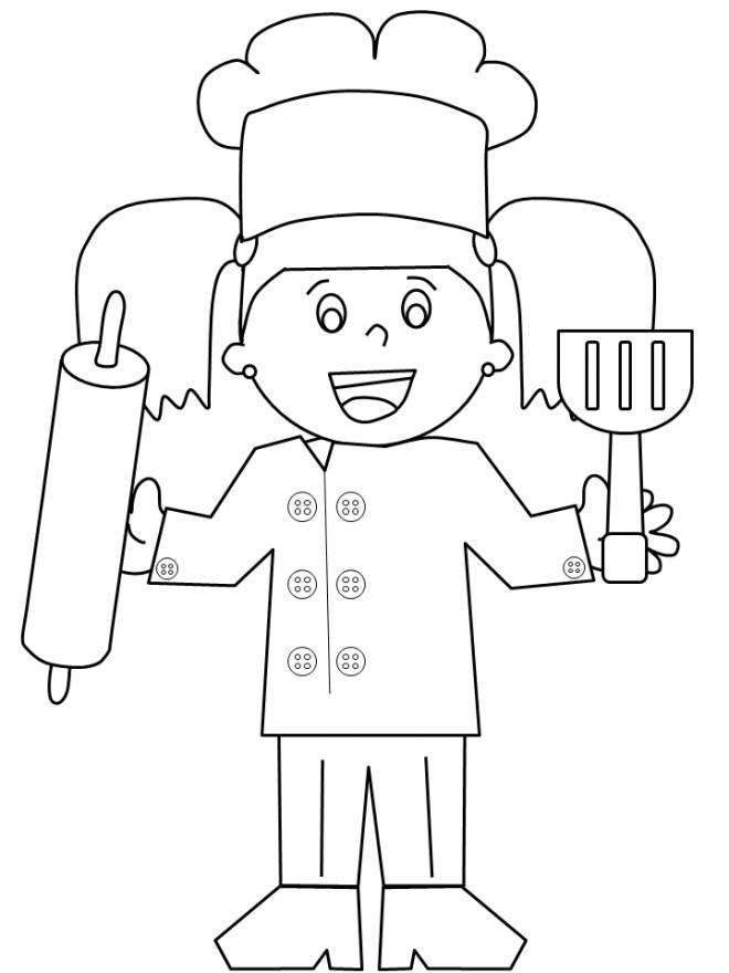 Coloriage et dessins gratuits Fille de la Boulangère à imprimer