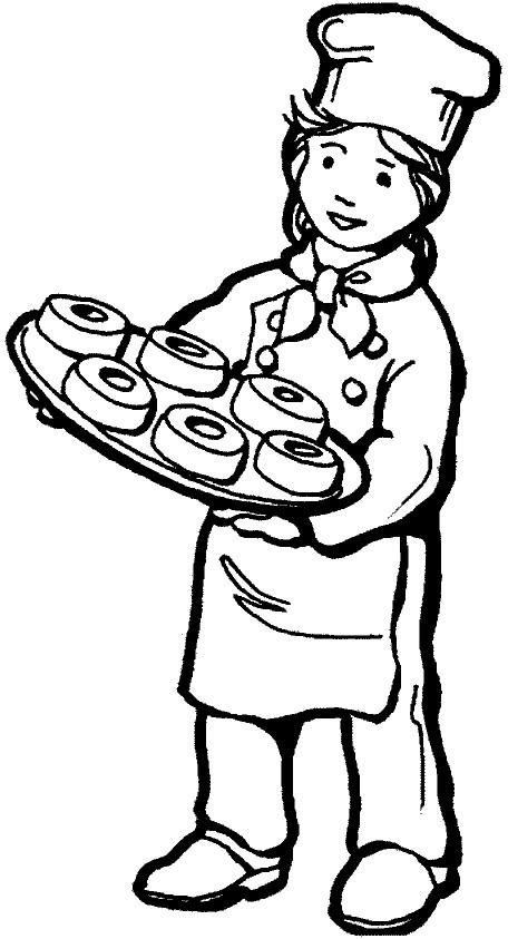Coloriage et dessins gratuits la pâtissière mène du gâteau à imprimer