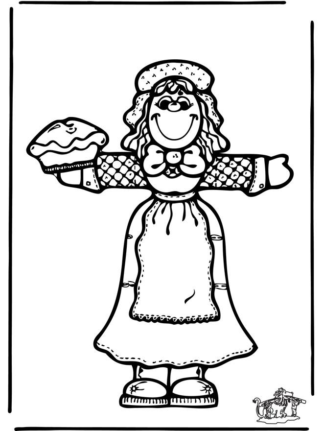 Coloriage et dessins gratuits La pâtissière tient la tarte à imprimer