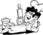 Coloriage Le boulanger et le gastronome