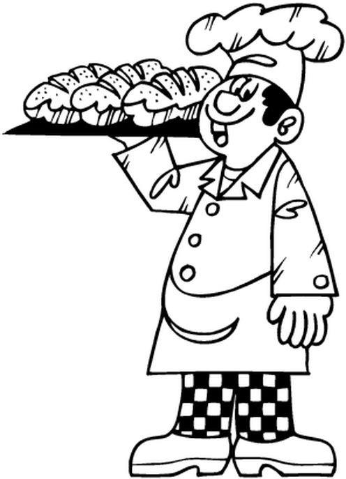 Coloriage le boulanger prend le pain dessin gratuit imprimer - Coloriage boulangerie ...