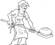 Coloriage et dessins gratuit le pain du  boulanger à imprimer