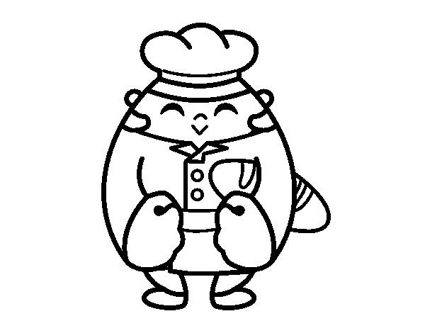 Coloriage et dessins gratuits Le petit chef à imprimer