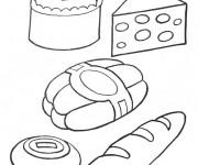Coloriage Les aliments de boulangerie