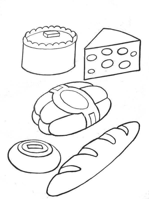Coloriage et dessins gratuits Les aliments de boulangerie à imprimer