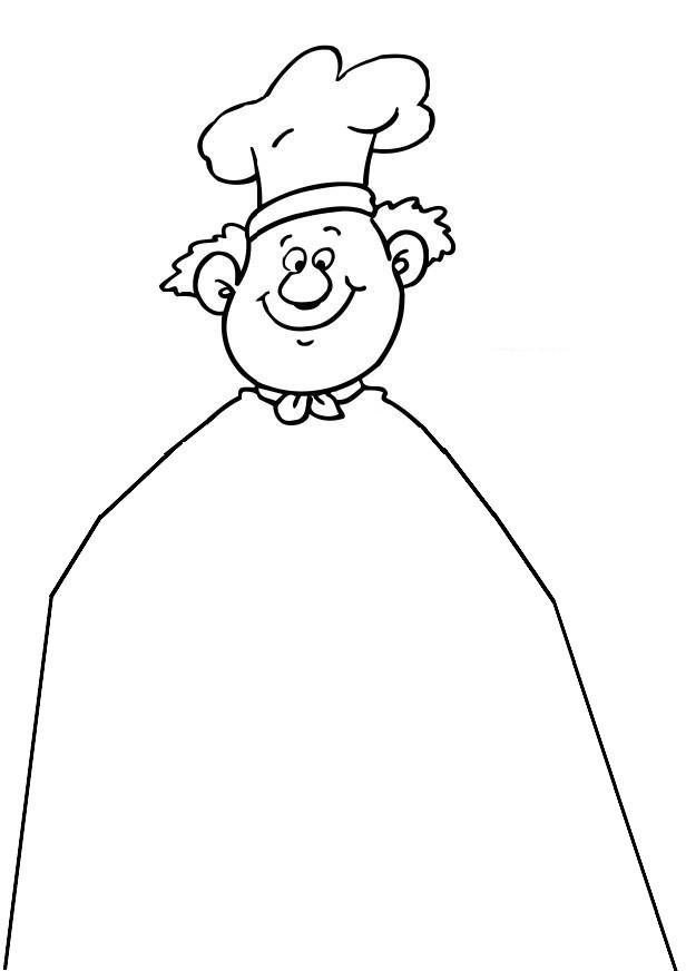 Coloriage et dessins gratuits Un Pâtissier humoristique à imprimer