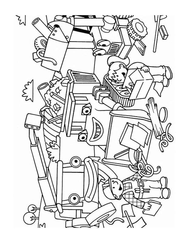 Coloriage et dessins gratuits Bob le bricoleur avec sa famille à imprimer