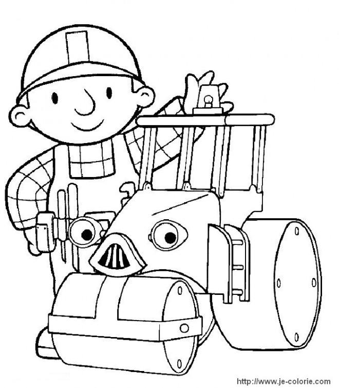 Coloriage et dessins gratuits Bob Le Bricoleur et les Méga machines à imprimer