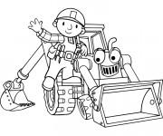 Coloriage et dessins gratuit Bob le bricoleur et Scoup à imprimer