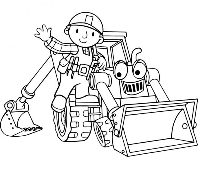 Coloriage et dessins gratuits Bob le bricoleur et Scoup à imprimer