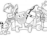 Coloriage et dessins gratuit Bob le bricoleur et Zoé à imprimer