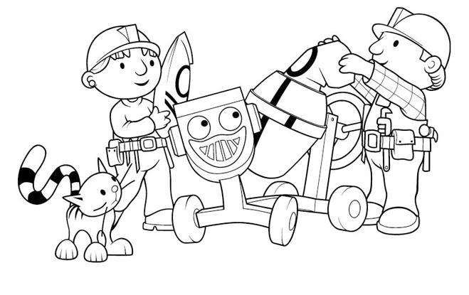 Coloriage et dessins gratuits Bob le bricoleur et Zoé à imprimer
