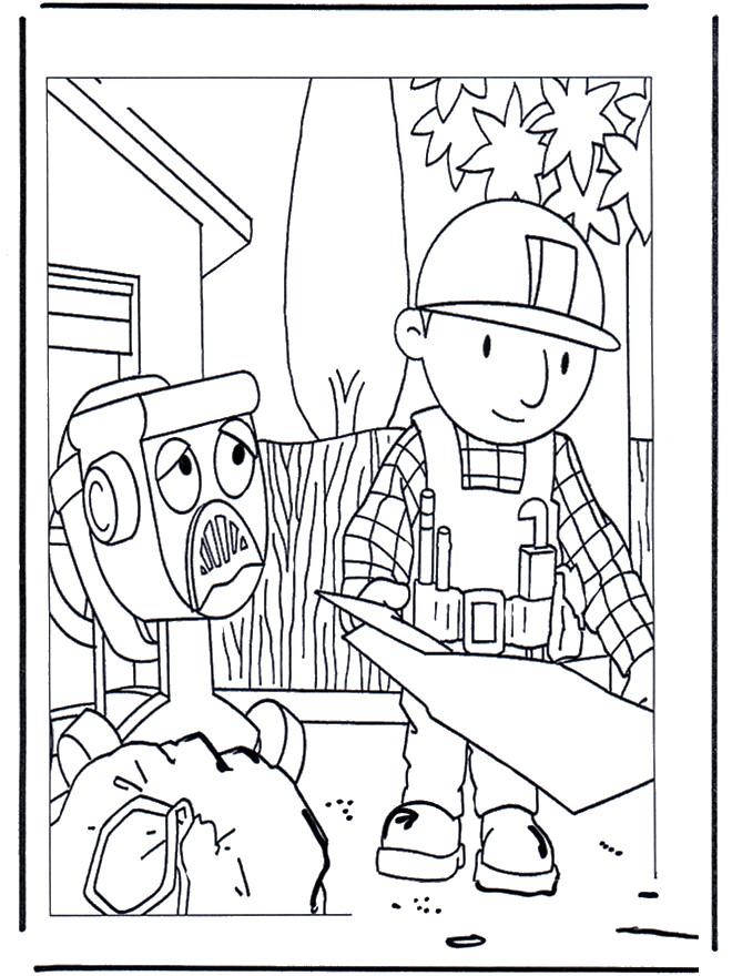 Coloriage et dessins gratuits Bob le bricoleur facile à imprimer