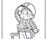 Coloriage et dessins gratuit Bob le bricoleur fatigué à imprimer