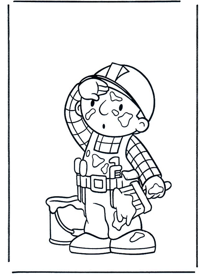 Coloriage et dessins gratuits Bob le bricoleur fatigué à imprimer