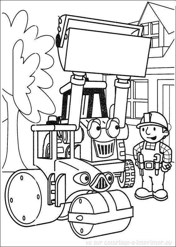 Coloriage et dessins gratuits Bob Le Bricoleur maternelle à imprimer