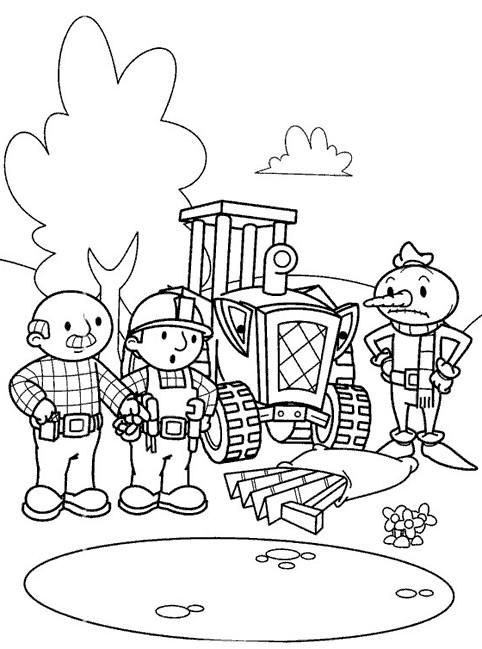 Coloriage et dessins gratuits Bob le bricoleur rencontre un problème à imprimer