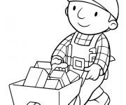 Coloriage et dessins gratuit Bob le bricoleur transporte ses outils à imprimer