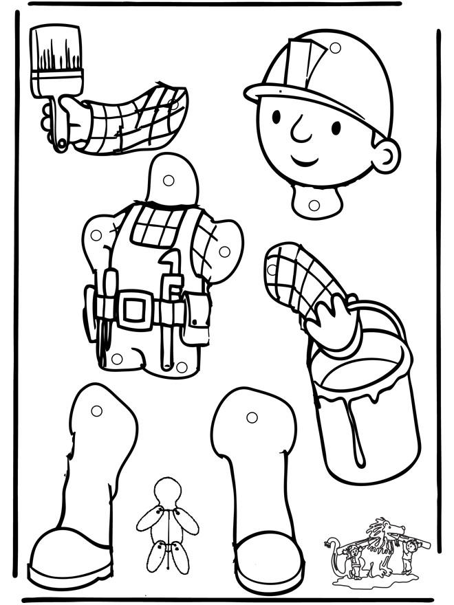 Coloriage et dessins gratuits Bricoleur à assembler à imprimer