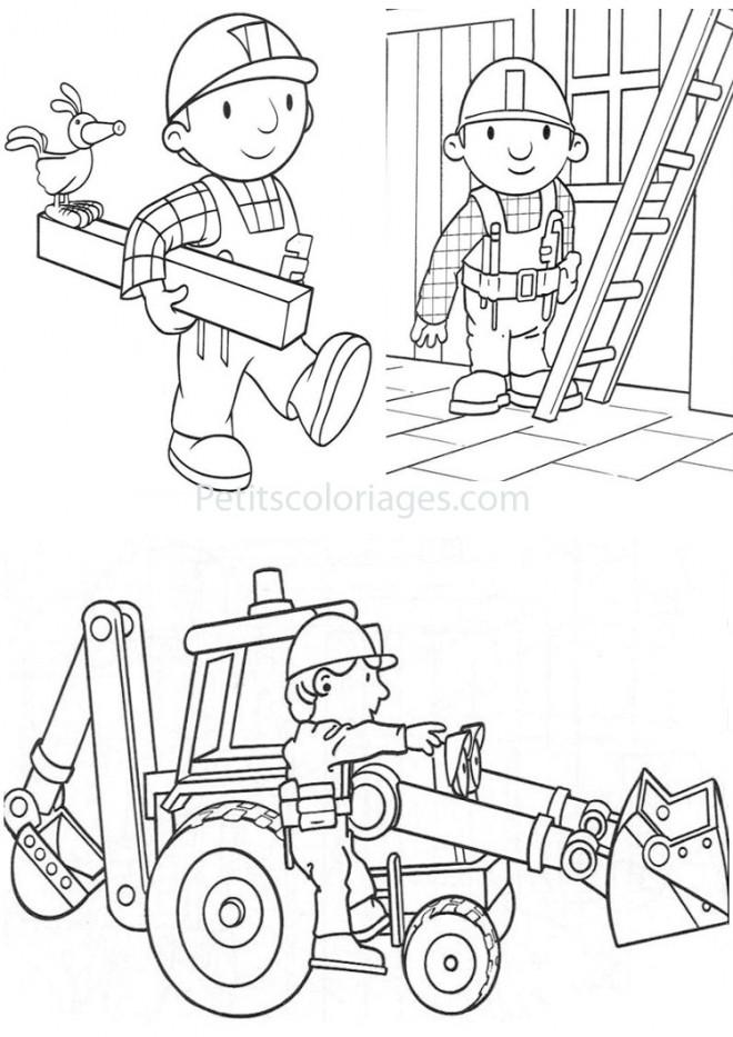 Coloriage et dessins gratuits Bricoleur dessin animé à imprimer