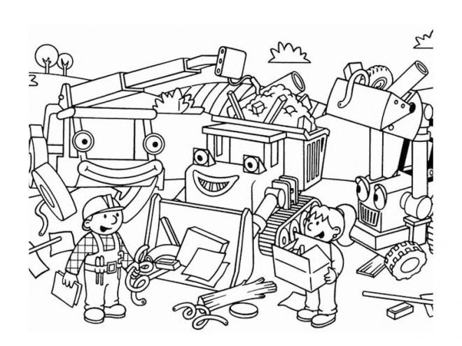 Coloriage et dessins gratuits Bricoleur dessin pour Les Petits à imprimer