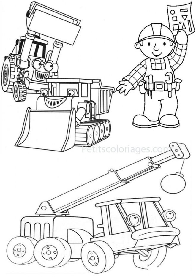 Coloriage et dessins gratuits Bricoleur et Équipement à imprimer