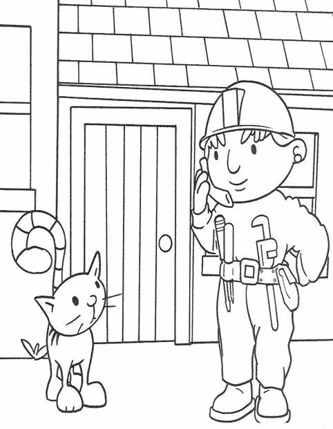 Coloriage et dessins gratuits Bricoleur et Le Chat à imprimer