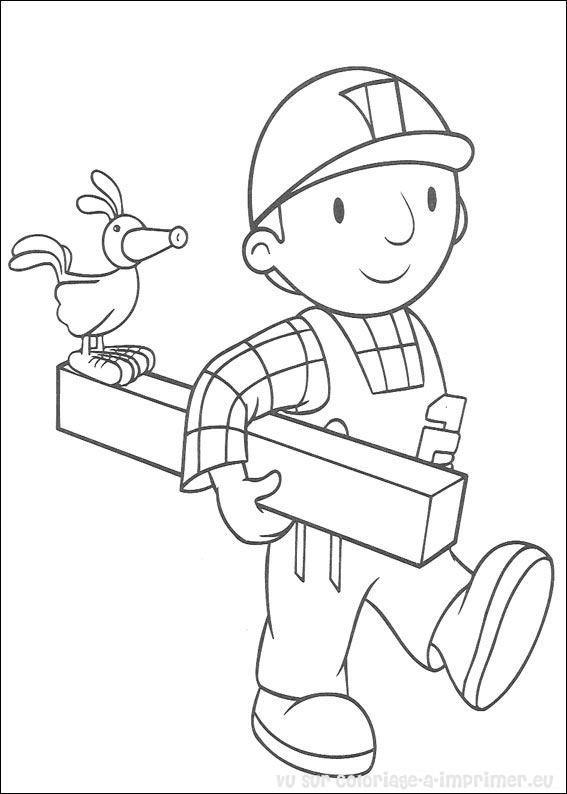 Coloriage et dessins gratuits Bricoleur pour enfant à imprimer