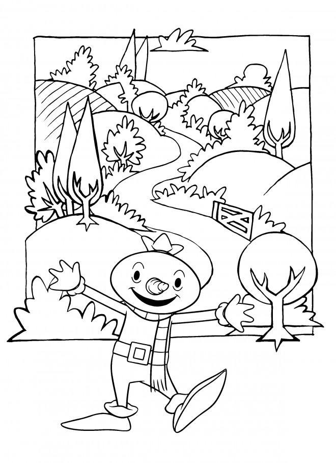 Coloriage et dessins gratuits Bricoleur rigolo à imprimer