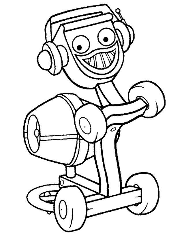 Coloriage et dessins gratuits Bricoleur Robot à imprimer