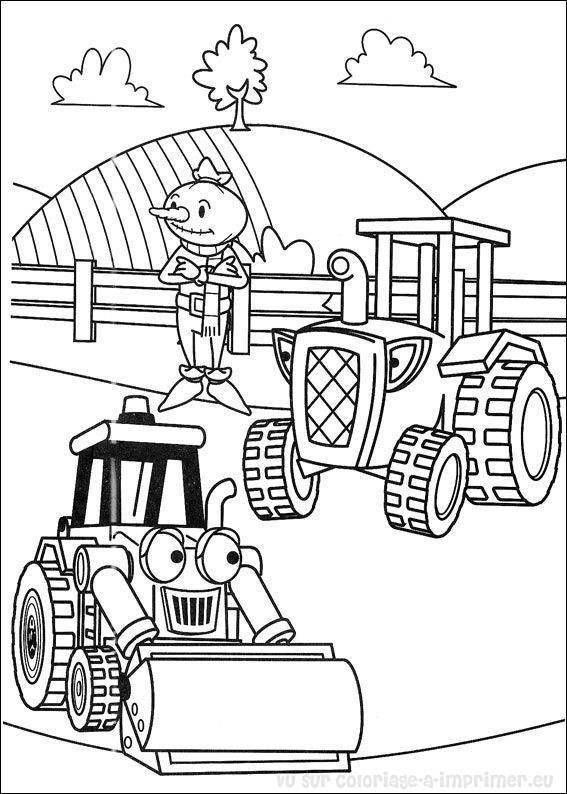 Coloriage et dessins gratuits Bricoleur série pour enfant à imprimer