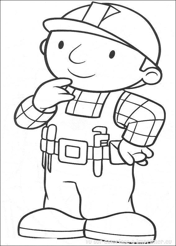 Coloriage et dessins gratuits Bricoleur souriant à imprimer