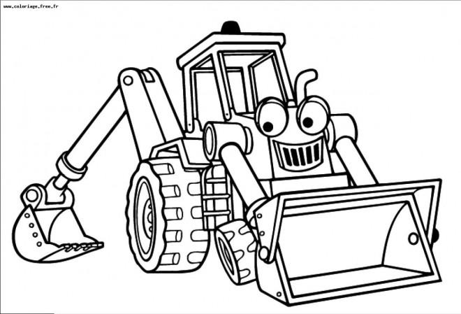 Coloriage et dessins gratuits Bulldozer magique à imprimer