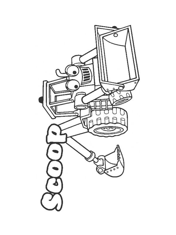 Coloriage et dessins gratuits Bulldozer Scoop à imprimer