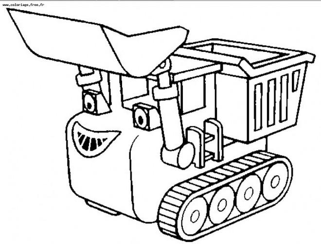 Coloriage Le Camion De Bob Le Bricoleur.Coloriage Camion Magique Dessin Anime Dessin Gratuit A Imprimer