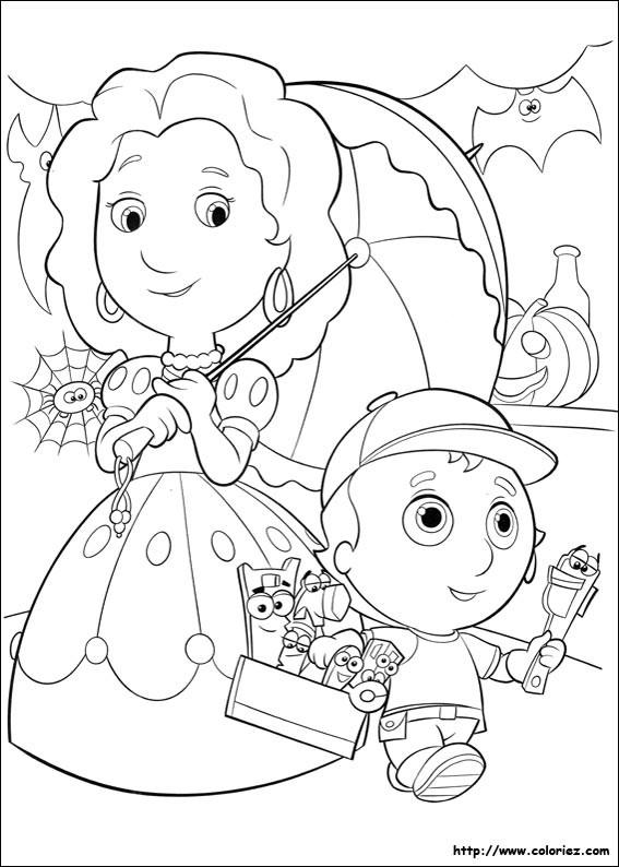 Coloriage et dessins gratuits Le Petit  Bricoleur et sa Mère à imprimer