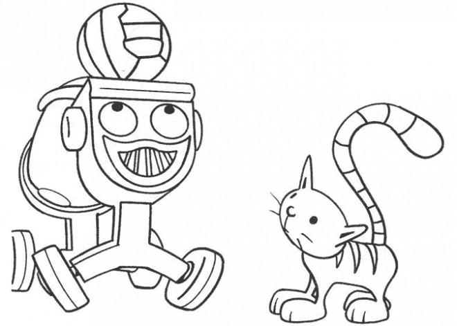 Coloriage et dessins gratuits Le Robot magique à imprimer