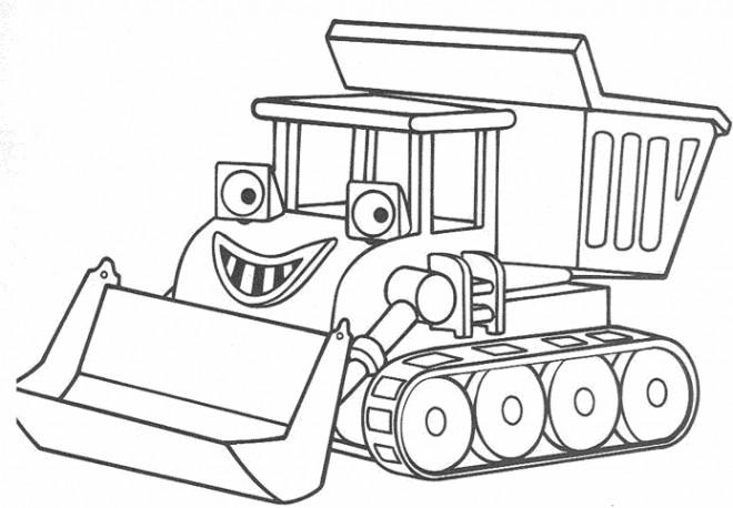Coloriage et dessins gratuits Le Tracteur magique à imprimer