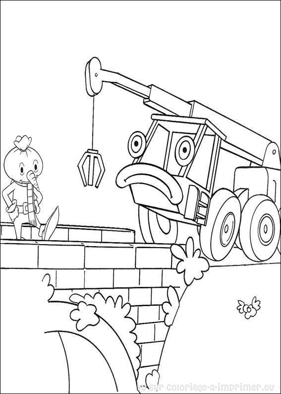 Coloriage et dessins gratuits Pelle mécanique pour Les Petits à imprimer