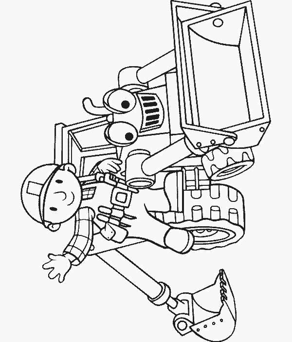 Coloriage et dessins gratuits Sam le Bricoleur et son tracteur magique à imprimer
