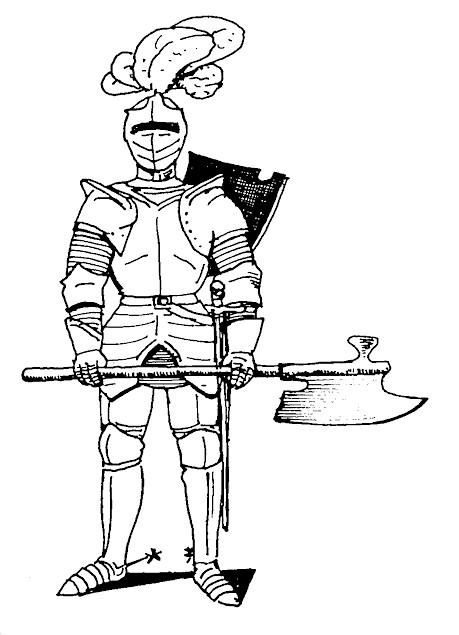 Coloriage et dessins gratuits Armure de Chevalier à imprimer